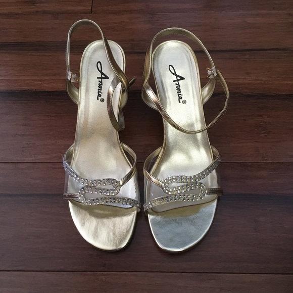 d4c2ee48679 Annie Shoes - Annie super cute gold jeweled heels 👠 size 8 1 2